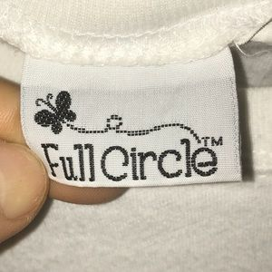 Full Circle Tops - Cute tie front t-shirt